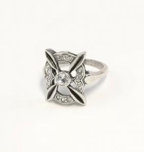 9901408 925er Silber Ring mit Swarovski-Steinen Gr. 51