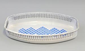 8380035 Emaillierte Brotschale Brot-Korb 29,5x18,5cm Art déco