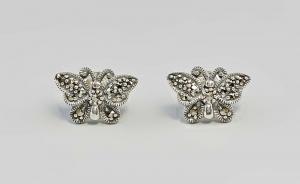 9903105 925er Silber Ohrringe Markasiten D1cm