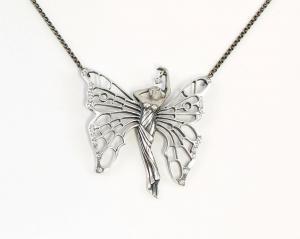 9901692 Collier Schmetterlings-Frau Elfe Swarovski-Steine L42cm