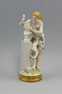 9941485 Porzellan Figur Allegorie der Bildhauerei Ens H24cm