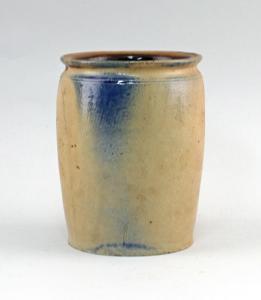 99845560 Keramik Vorrats-Topf Bürgel Thüringen Blauschürze H15cm