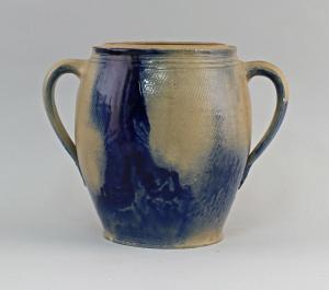 99845557 Keramik Vorrats-Topf Bürgel Thüringen Blauschürze H20cm