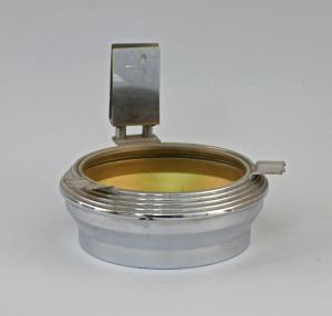 99833205 Ascher Aschenbecher Glaseinsatz silberfarbenes Metall Art deco