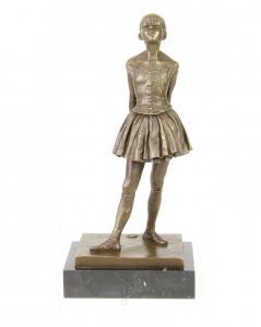 9973247-ds Bronze Skulptur junge Ballerina nach Degas 13x18x38cm