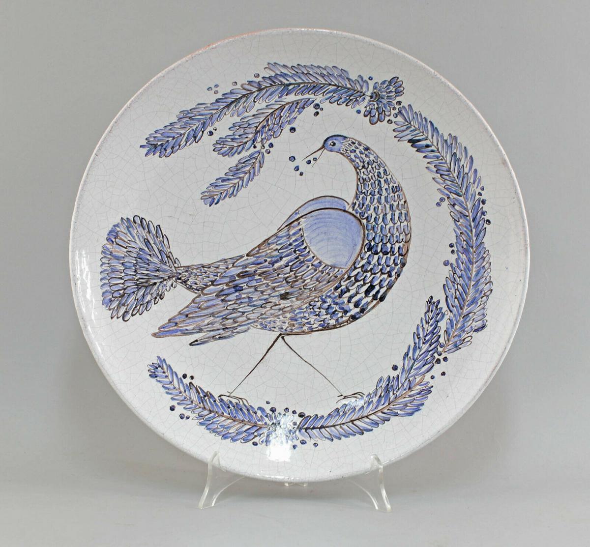 8545007 Keramik Baudisch Gudrun Großer Bildteller Hallstatt 0