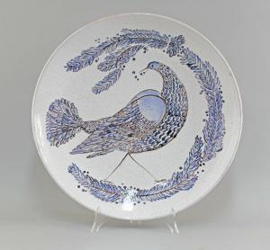 8545007 Keramik Baudisch Gudrun Großer Bildteller Hallstatt