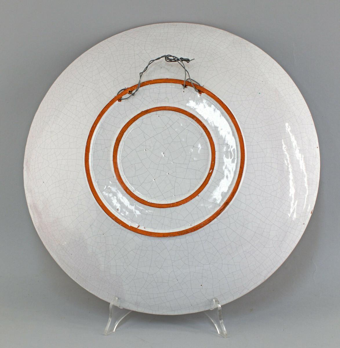 8545007 Keramik Baudisch Gudrun Großer Bildteller Hallstatt 1
