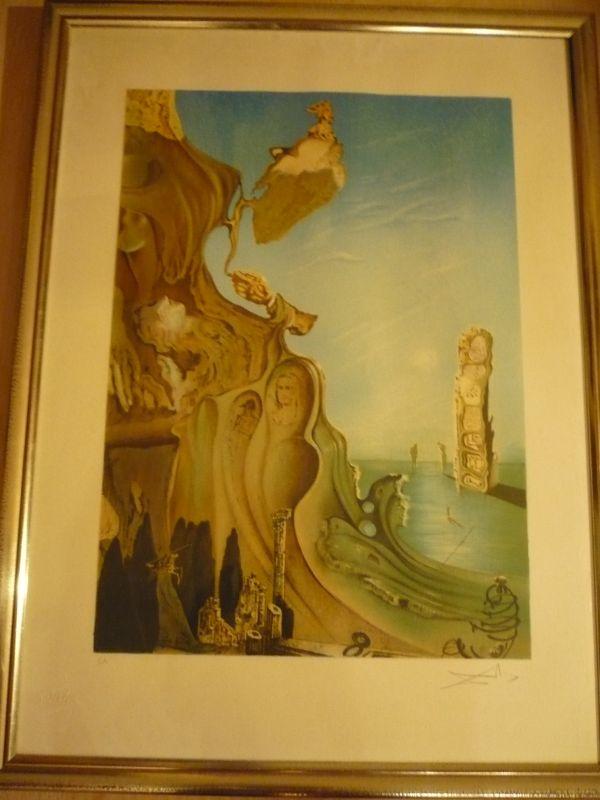 """ARTIST Salvador Dali (1904-1989) *** TITEL """"Monumet imperiale à la femme-enfant"""" *** TECHNIK Lithographie *** AUFLAGE E.A. (epreuve artiste) ***SIGNATUR unten rechts  0"""