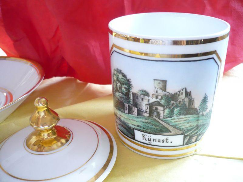 Deckel-Tasse mit Unterteller (8)