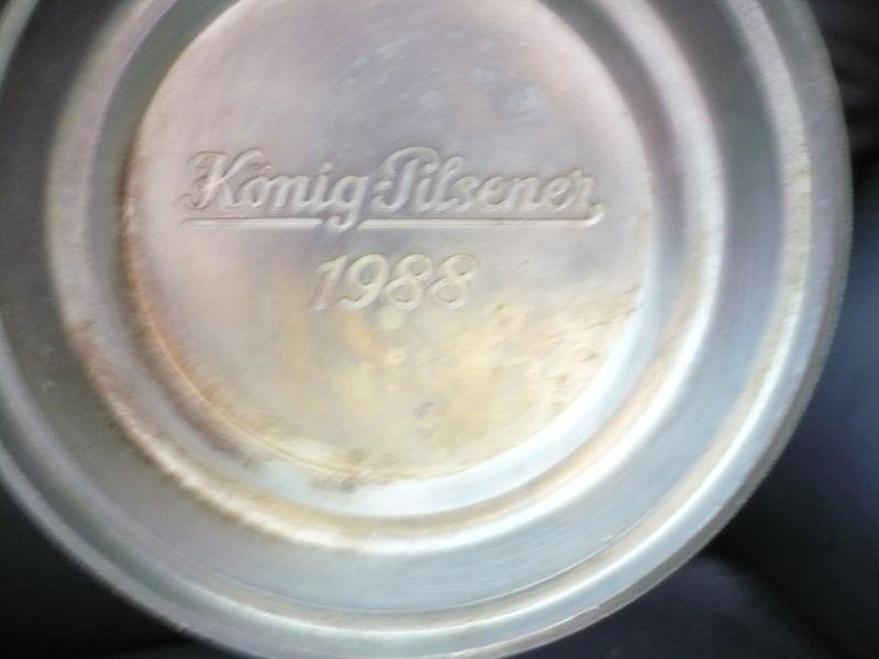 Jahres Krug  König Pilsner 1988(87) 5