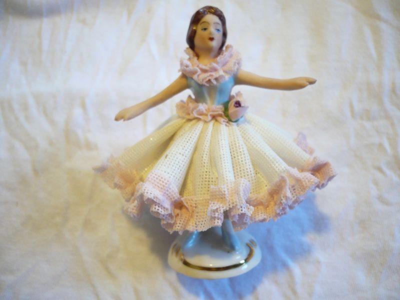 Tänzerin Kleid weis mit rosa  (108)