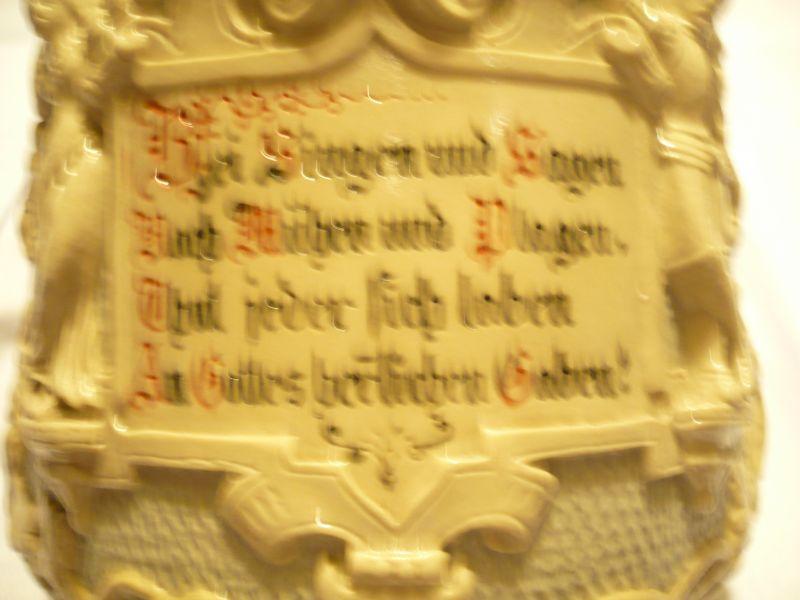 Krug mit Spruch Villroy & Boch ca. von 1900   (222) 1