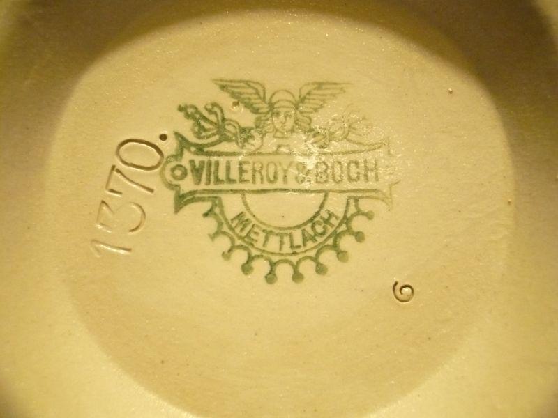 Krug mit Spruch Villroy & Boch ca. von 1900   (222) 2