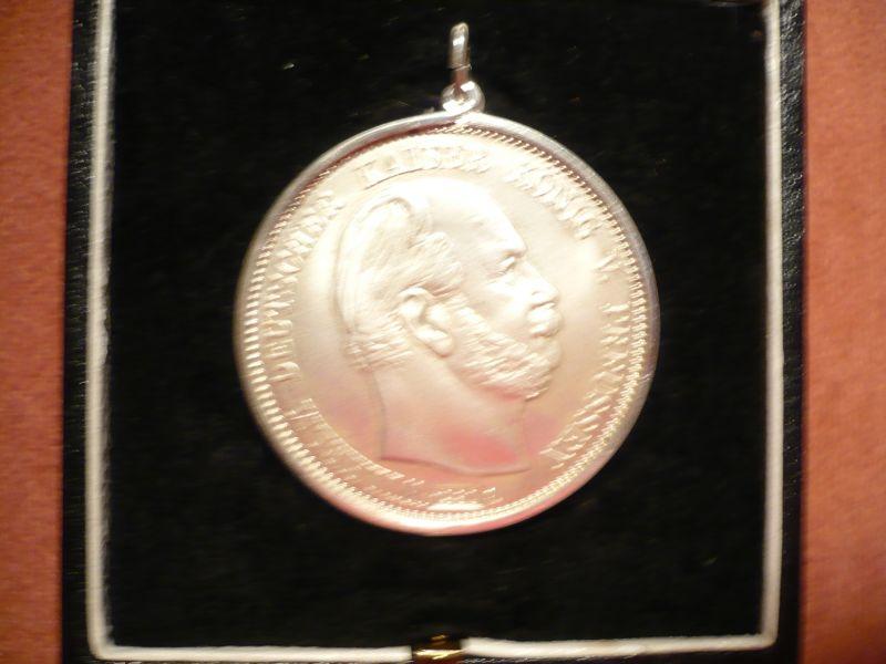 Münzanhänger Fünf Mark, Deutsches Reich Silber in Schatulle (294) 2