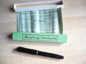 Marossy Schreibgerät in OVP mit Gold Feder (14K)   (336)