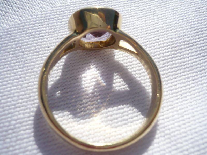 Lieblings Gold-Ring selten mit hell fliederfarbenem Stein (394) - oldthing #BL_77