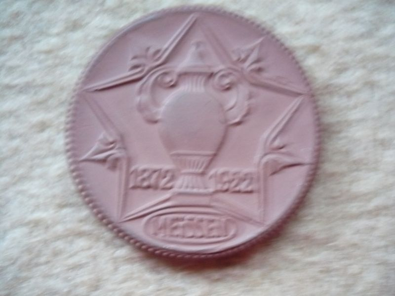 Meissen Porzellan Münze - Meissen Ofen - 1872-1922 (408)
