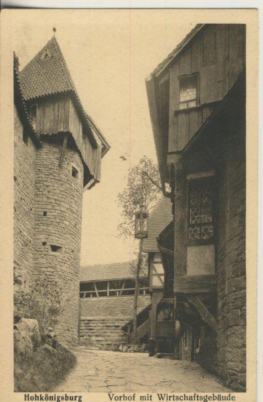 Hohkönigsburg v. 1938 Vorhof mit Wirtschaftsgebäude (AK240) 0