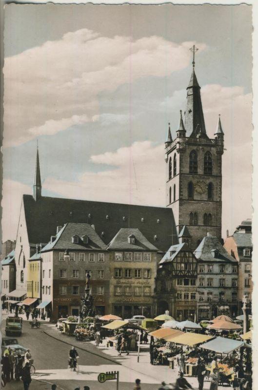 Trier v. 1963 Markt mit Stände (AK242) 0