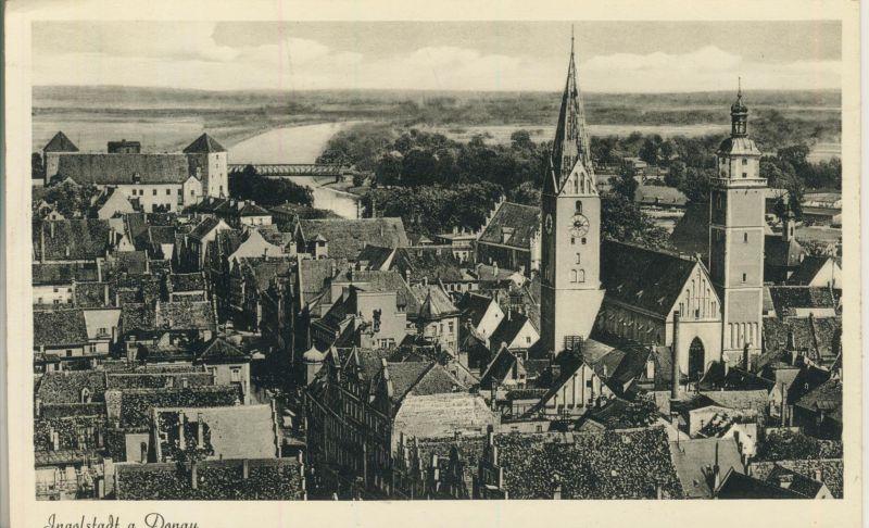 Ingolstadt v. 1963 Teil-Stadt-Ansicht (AK246)  0