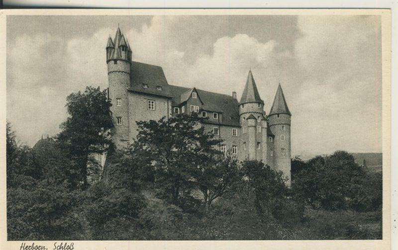 Herborn v. 1955 Das Schloß (AK250) 0