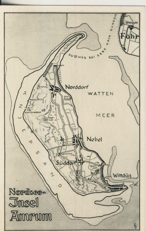 Nordsee Insel Amrum V 1938 Inselansicht Als Karte Ak669 Nr Oid