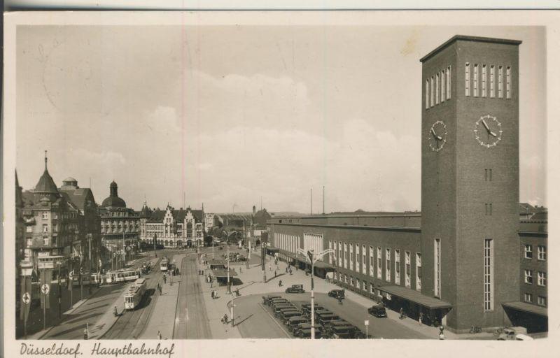 Düsseldorf v. 1939 Der Hauptbahnhof (AK691)