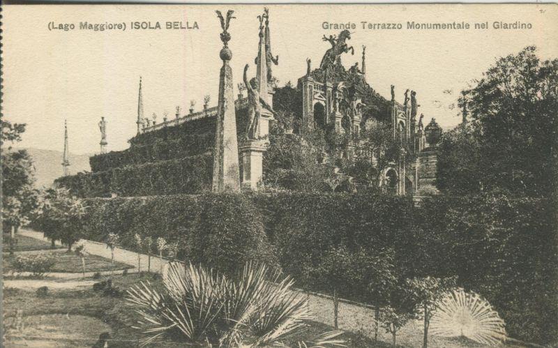 Lago Menaggio - Isola Bella v. 1914 Grande Terrazzo Monumentale mel Giardino (AK1041) 0