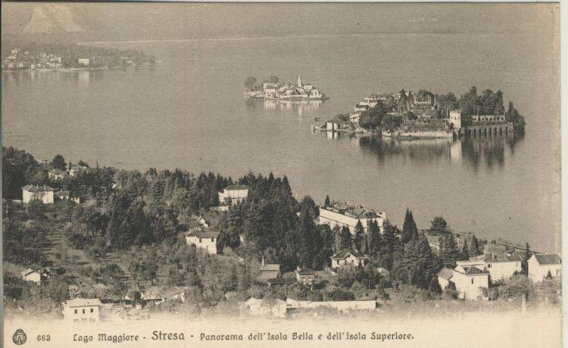 Lago Menaggio - Stresa v. 1914 Panorama Isola Bella e dell`Isola Superiore (AK1047)  0