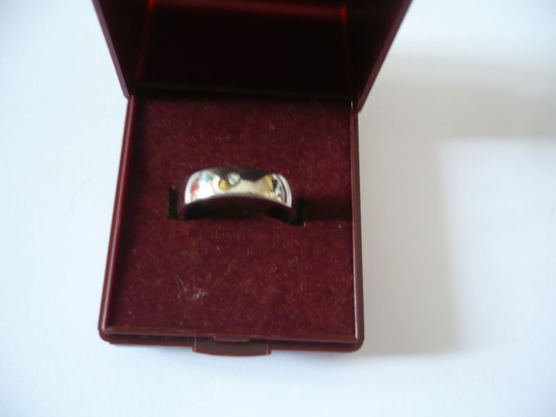 Silberring mit Diamant (550)