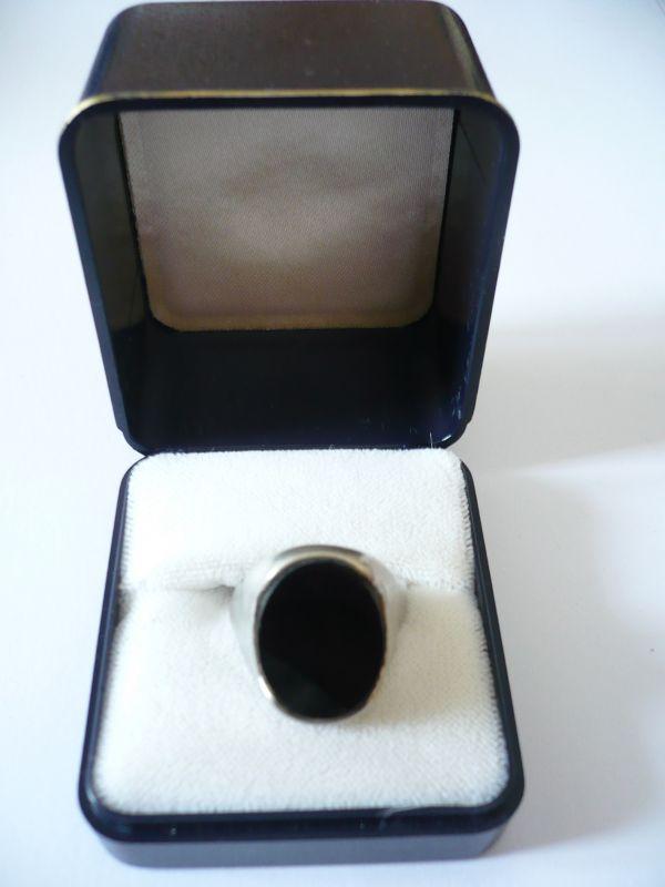 Herren-Ring mit Onyx-Platte (551)
