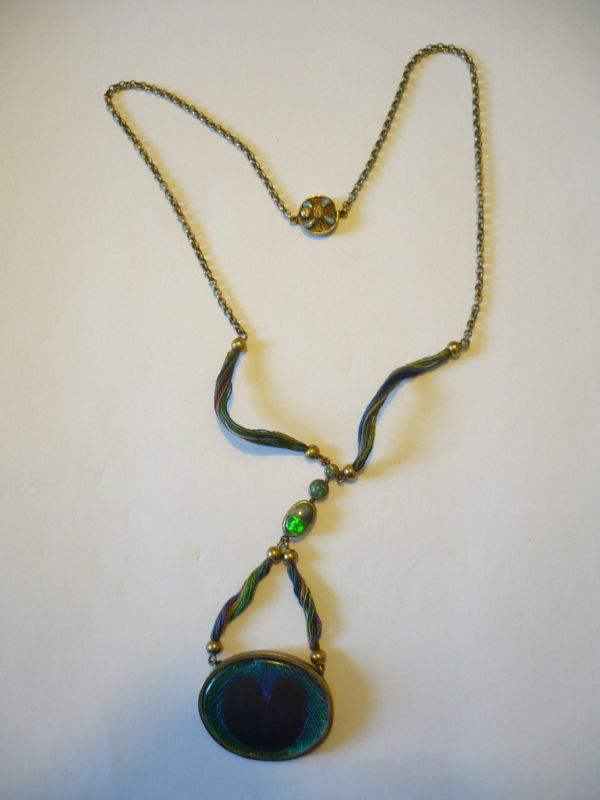 Collier - Silber vergoldet mit Opalbesatz (568)
