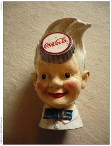 Coca Cola Spardose Kopf ca. 1920 aus Gusseisen