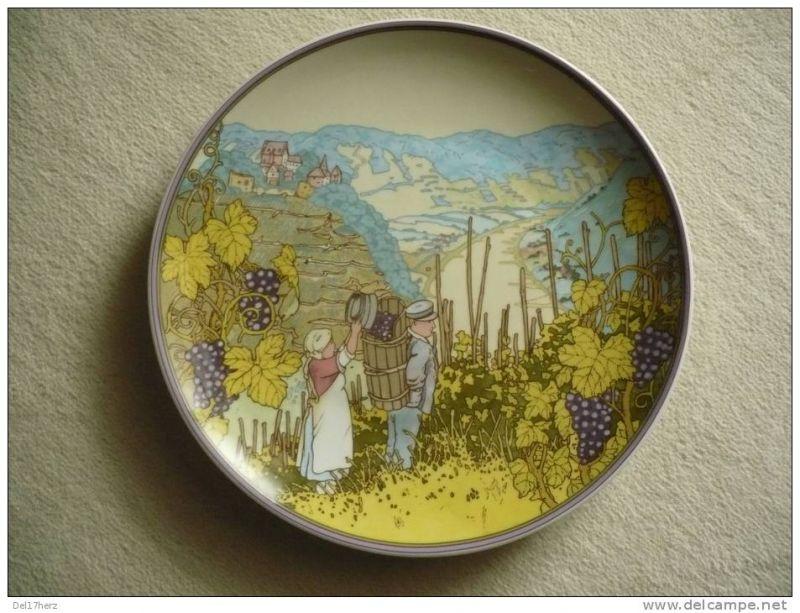 Wandteller - Villeroy & Boch - Winzer im Herbst