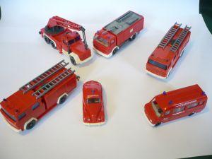 6 Feuerwehr Autos \