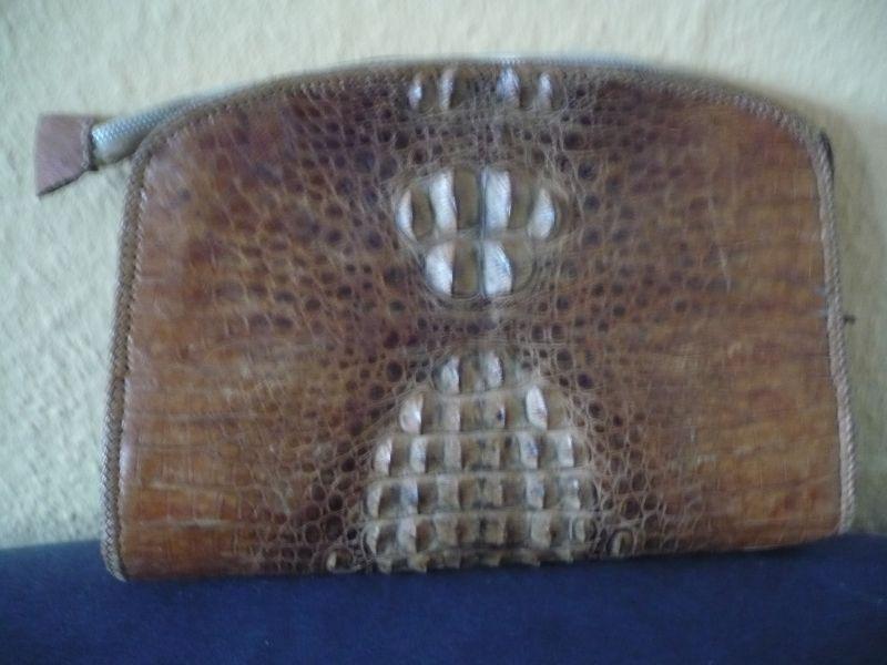 Kroko-Leder Clutche (Theatertasche) (590)