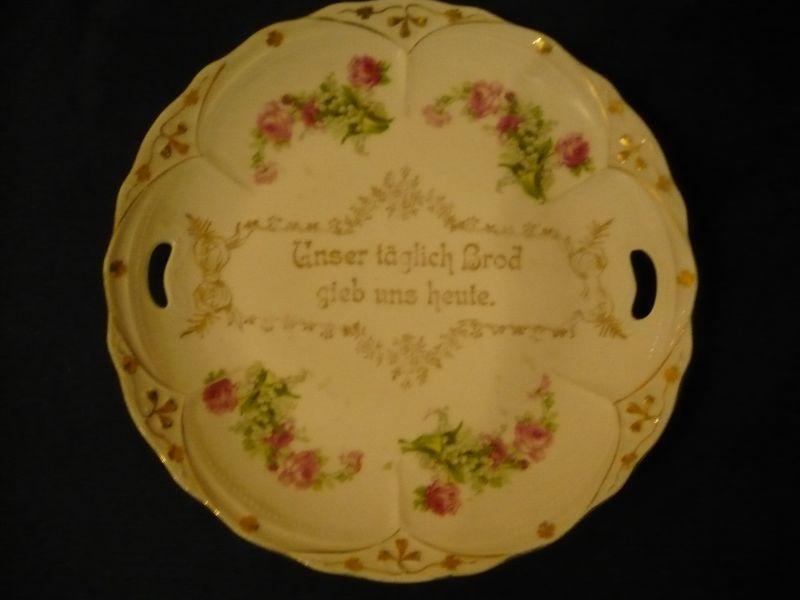 Brot-Teller mit Spruch in Gold (606)