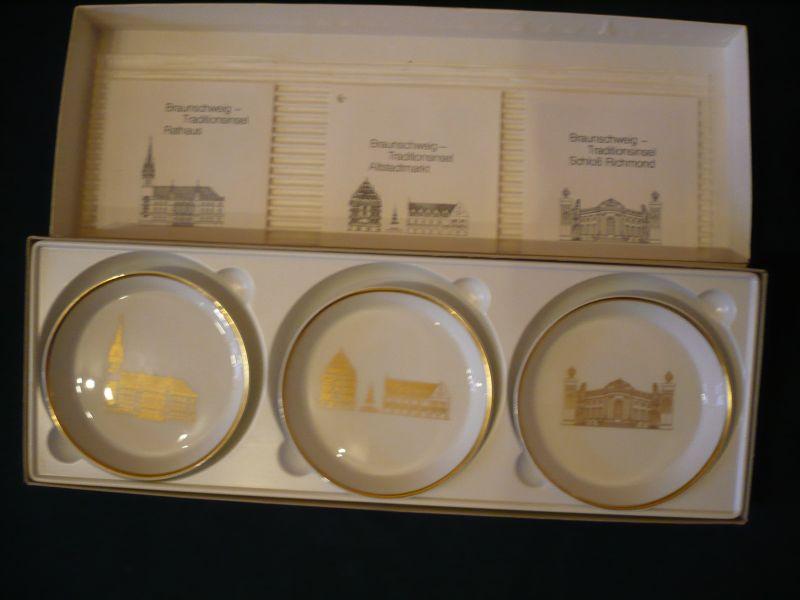 3x Wandteller in org. Karton - Ansichten von Braunschweig (616)
