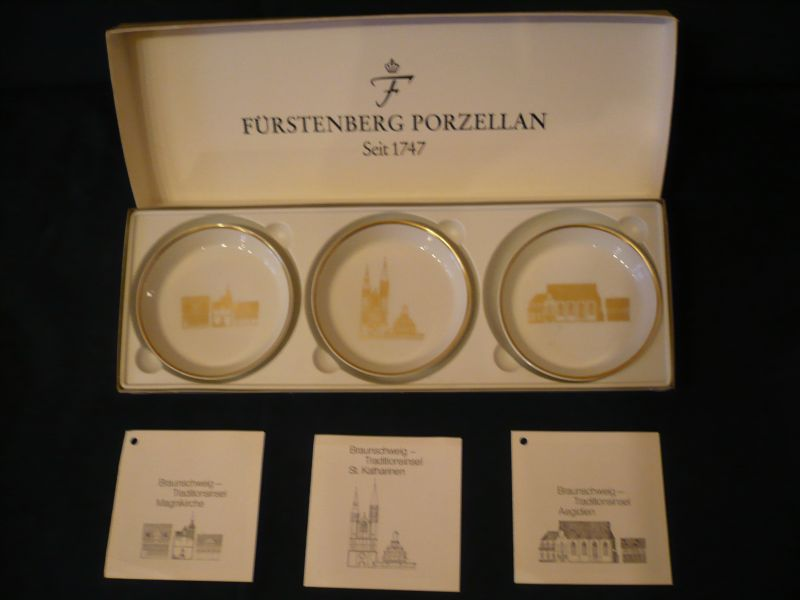 3x Wandteller in org. Karton - Ansichten von Braunschweig (617)