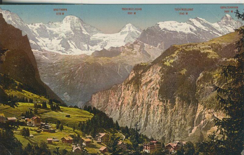 Bei Bern v. 1918 Breithorn,Tschingelhorn und Gespaltenhorn (AK1107)