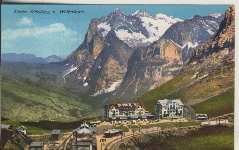Kleine Scheidegg v. 1916 Hotel,Skilifte und Zahnradbahn am Wetterhorn (AK1111)
