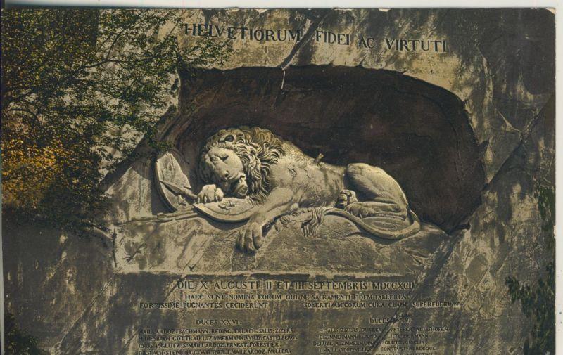 Luzern v. 1916 Das Löwendenkmal (AK1113)
