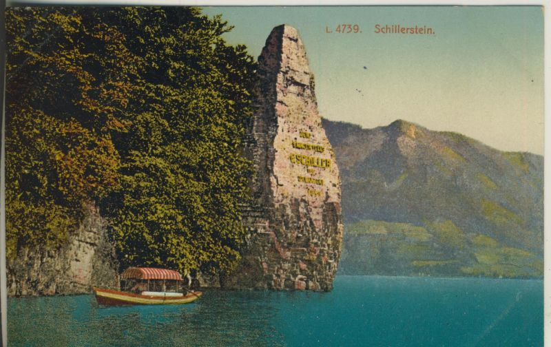 Kanton Uri v. 1914 Schillerstein am Vierwaldstättersee (AK1116)
