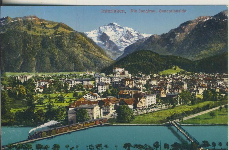 Berner Oberland v. 1916 Teil-Stadt-Ansicht (AK1118)