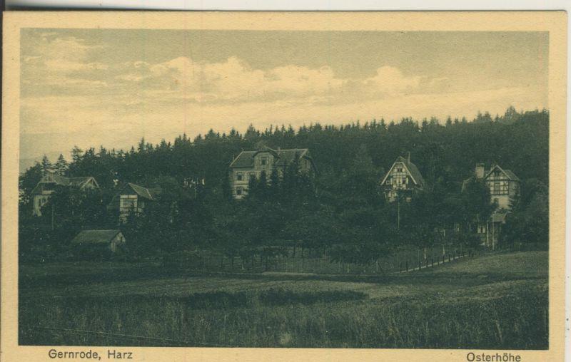 Gernrode v. 1935 Die Osthöhe mit Villen (AK1132)