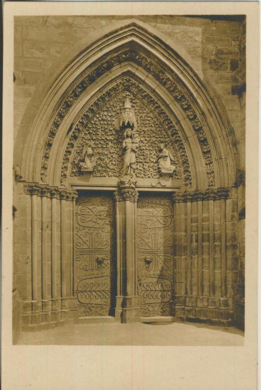 Marburg v. 1926 Elisdabethkirche - Westportal um 1270 (AK1191)
