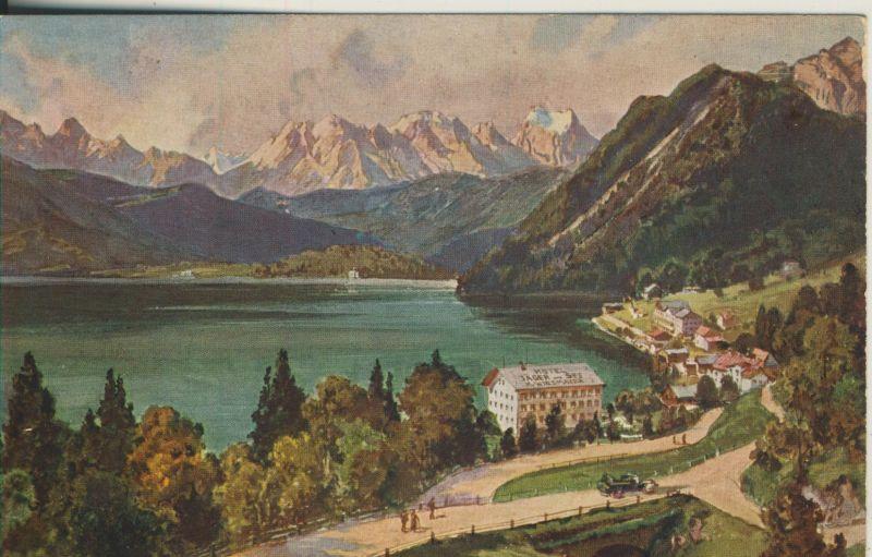 Urfeld am Walchensee v. 1924 Hotel Post Urfeld (AK1193)