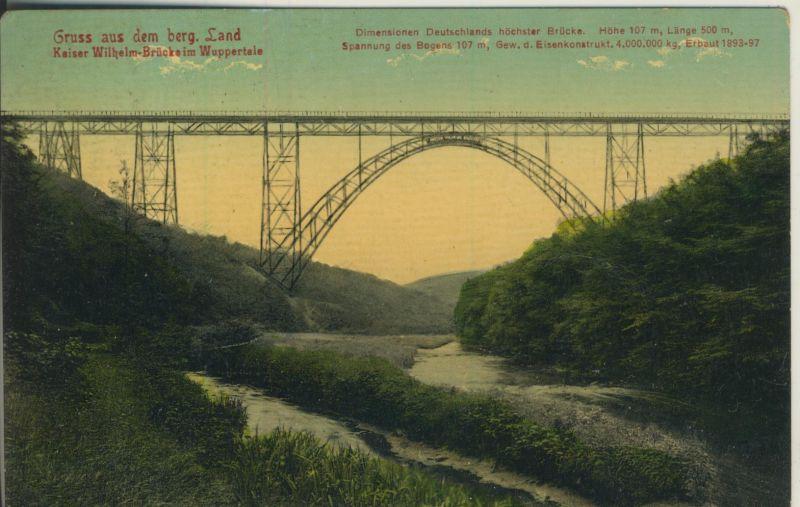 Wuppertal v. 1913 Kaiser W.-Brücke (AK1196)