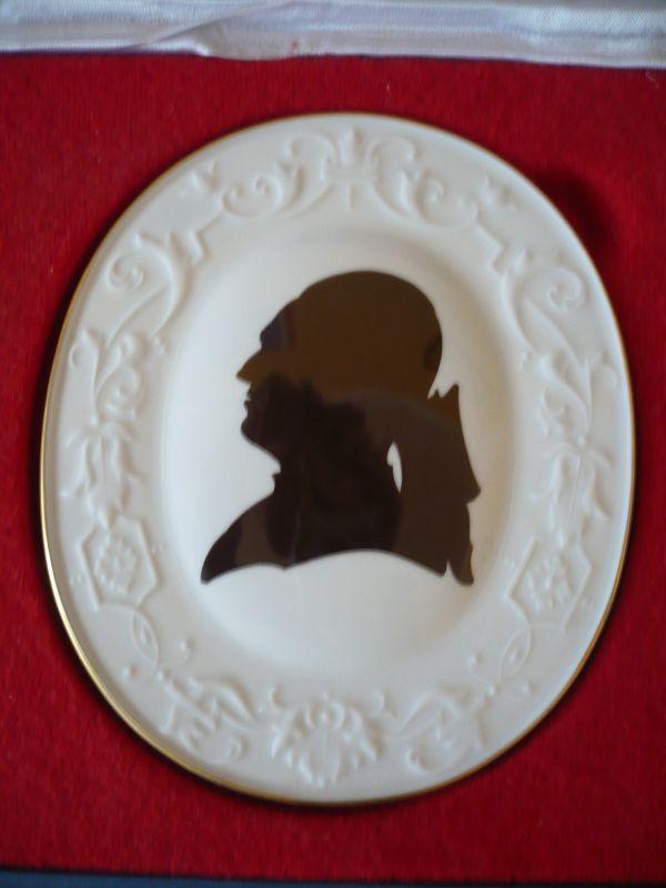 Große ovale Porzellan-Plakette \